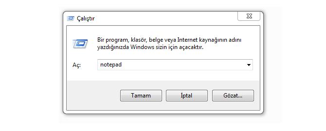 Windows Çalıştır Penceresi